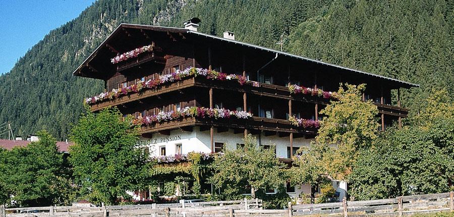 Hotel Strolz, Mayrhofen, Austria - exterior in summer.jpg